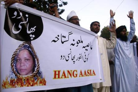 Protest against blasphemy convict